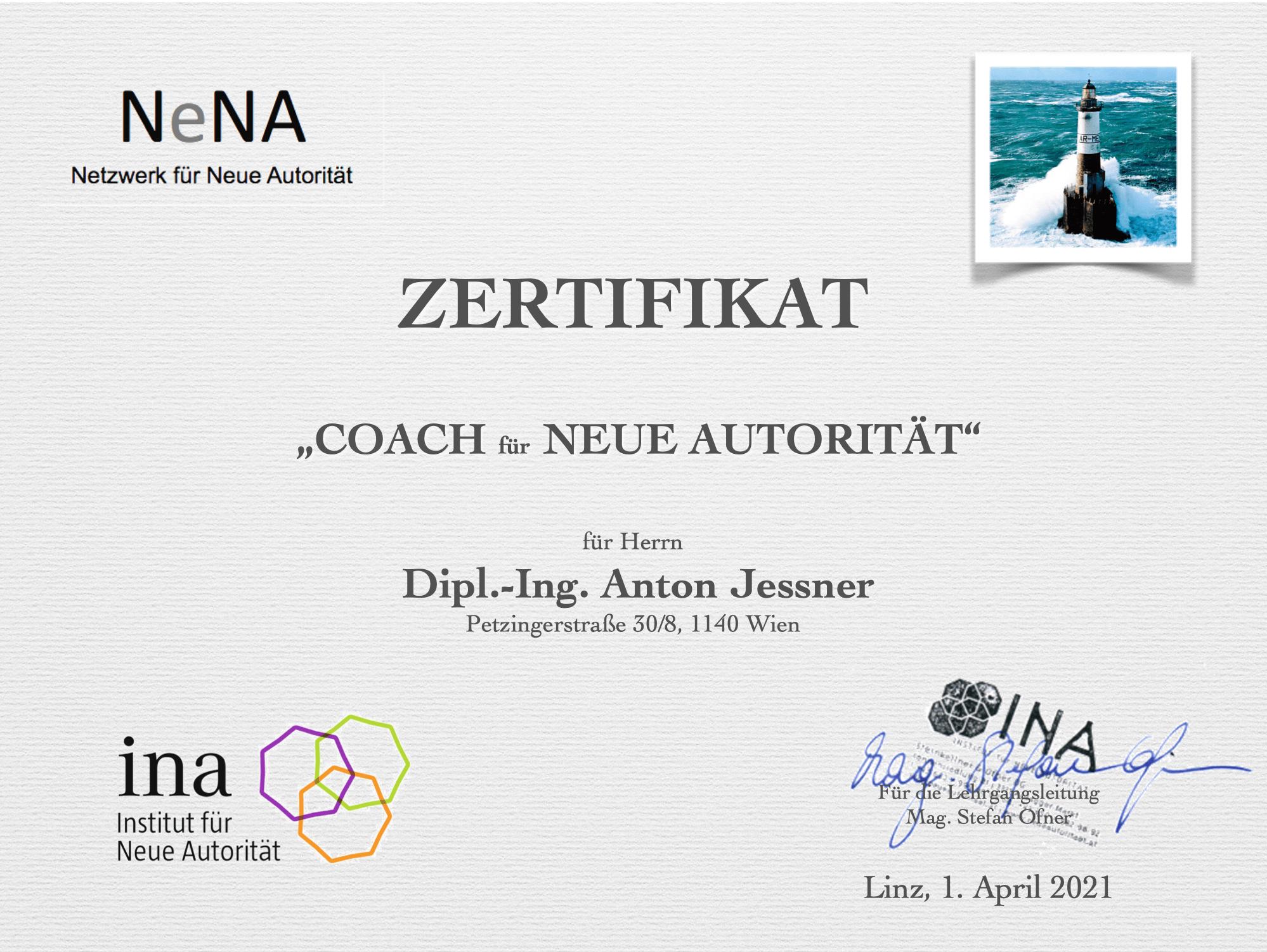 Anton Jessner - Coach für Neue Autorität